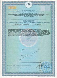 Нутрикон Хром, приложение к свидетельству о госрегистрации