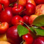 Плоды вишни и яблок