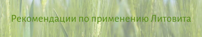 Рекомендации по применению Литовита в гранулах