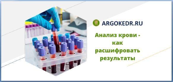 Анализ крови, как расшифровать результаты