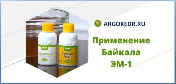 Применение Байкала ЭМ-1