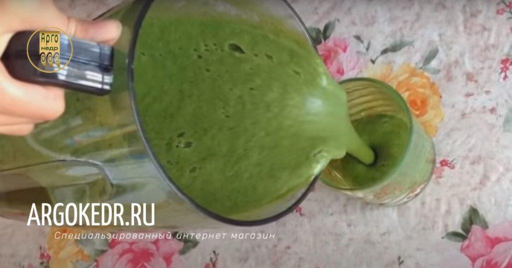 Сок из свежей зелени